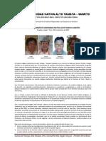 Pronunciamiento Comunidad Nativa Alto Tamaya Saweto Versionfinal12092014