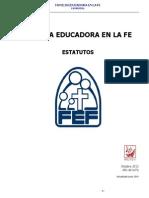 Familia Educadora en La Fe. Estatutos 18 de Junio Del 2014 v.2.