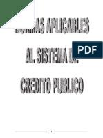 Normas Aplicables Al Sistema de Crédito Público Trabajo