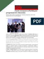 09-09-2014 S Puebla - Fundación Únete reconoce a Puebla por programas de educación.
