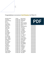 Week 33 Gold Promotions