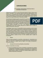 CONVOCATORIA Protocolo