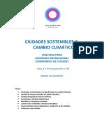 CIUDADES SOSTENIBLES Y CAMBIO CLIMÁTICO