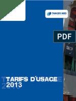 Cahier Tarifaire 2013