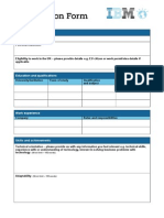 IBM Graduate Application Form