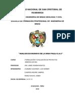 Analisis Economico de La Mina Paula s.a.c