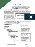 Sample Edusoft Reports