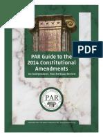 Constitutional Amendments - 2014 Ballot