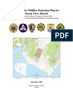 Ocean View Community Wildfire Protection Plan (CWPP) - 2006
