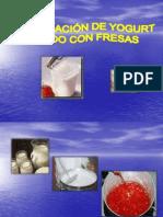 Yogurt Batido de Fresa