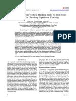 Critical Thinking Task Based Learning