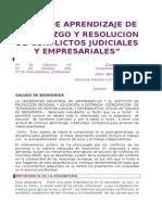 Guion Resolucion de Conflictos 2014