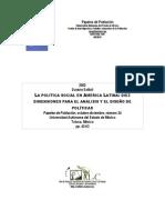 DImensiones de Analisis y Diseño de Politicas Publicas.