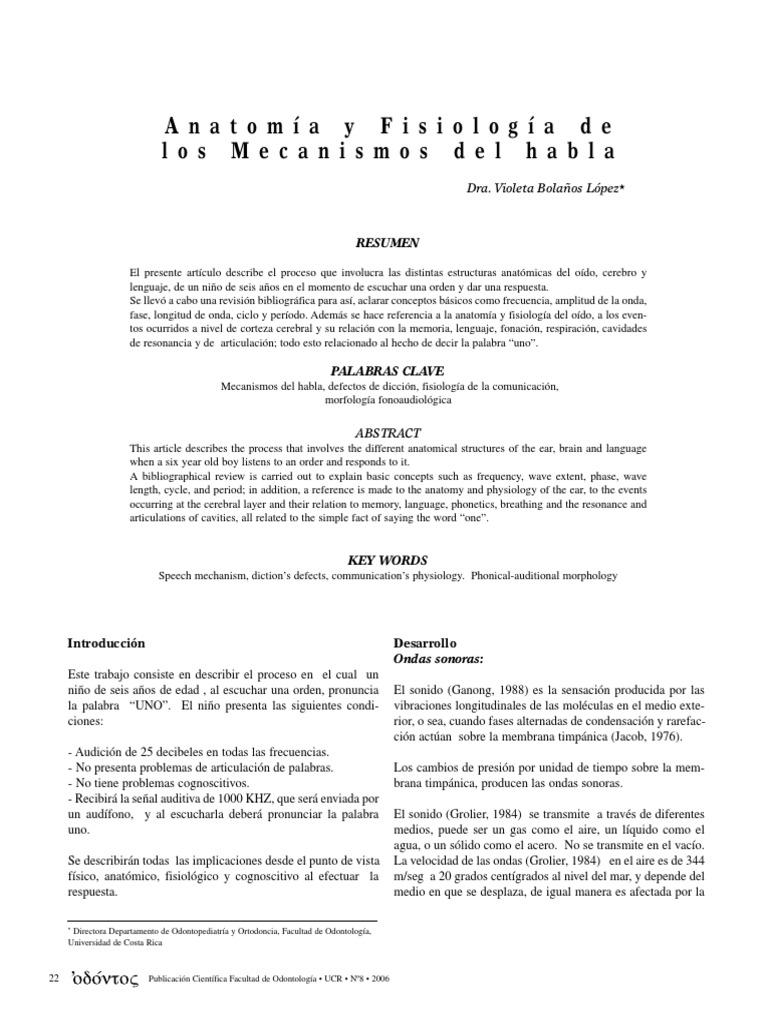 Anatomia y Fisiologia Del Habla