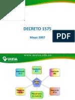 Decreto 1575 UCEVA