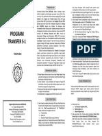 Leaflet Program Transfer S1 2014