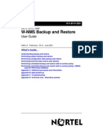 W-NMS Backup and Restore User Guide