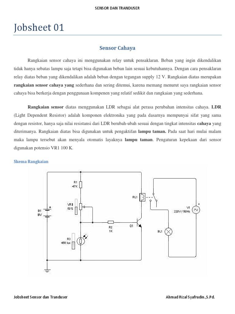 Contoh Soal Dan Contoh Pidato Lengkap Gambar Rangkaian Sensor Cahaya Menggunakan Ldr