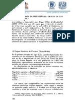 Miguel Othón de Mendizábal - Origen de Las Clases Medias