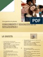 Conocimiento y Educación de La Adolescencia I