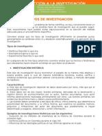 La Investigacion - Tipos de Investigacion Guia 2