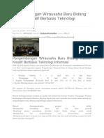Pengembangan Wirausaha Baru Bidang Industri Kreatif Berbasis Teknologi Informasi