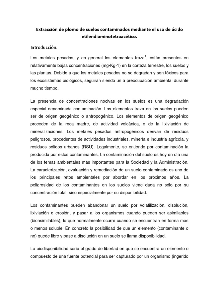 Extraccin de plomo de suelos contaminados mediante el uso de cido extraccin de plomo de suelos contaminados mediante el uso de cido etilendiaminotetraactico urtaz Gallery