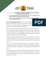 Eventos más importantes del Perú se modernizan con el uso de la plataforma Easy Taxi Pro
