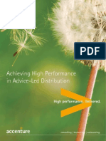 Achieving High Performance Advice-Led Life Insurance Distribution