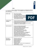 Checklist for Recruitment