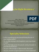 choosing residency ppt