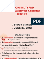 Responsibility and Accountability of a Filipino Teacher