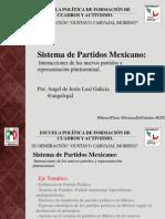 Presentación Sistema de Partidos, Nuevos Partidos, Diputados Pluris.