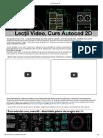 Curs Autocad 2D si operatii 3D