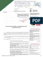Uma Análise Sobre a Competência Da Justiça Militar - Rafael Dos Santos Sá - Jurisway
