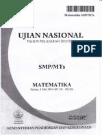 Soal Dan Pembahasan UN Matematika SMP Tahun 2014.pdf