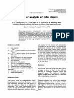 Review of Analysis of Tube Sheets