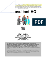 Consultant FaHQcilitation b Plan