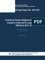 Poverty by Social, Religious & Economic Groups in India and Its Largest States 1993-94 to 2011-12