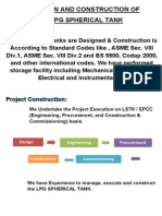 Design and Construction of LPG Spherical Tank