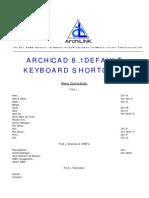 Archicad 81 Keyboard Shortcuts