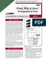 CIP08-Discrepancies in Yield