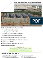 EEMUA Code for Design and Construction of LPG Mounded Bullet