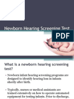 Newborn Hearing Screening Test