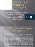Philippine History & Institution Report