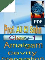 Amalgam Cavity Preparation Class 1