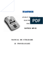 Manual Utilizare Casa de Marcat Datecs MP55