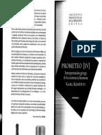 Kerényi, Karl Prometeo Interpretación Griega de La Existencia Humana Ed.sexto Piso,2011
