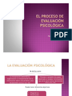 Proceso de Evaluación Psicológica PDF