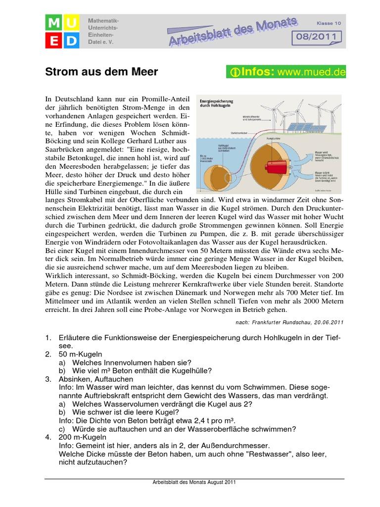 Strom Aus Dem Meer - Grundlagen (Quelle Www-mued.de)